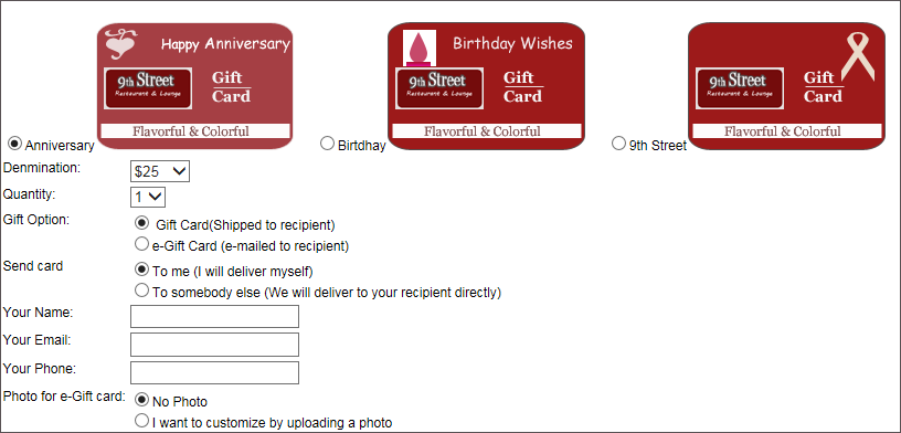 online gift cards software.